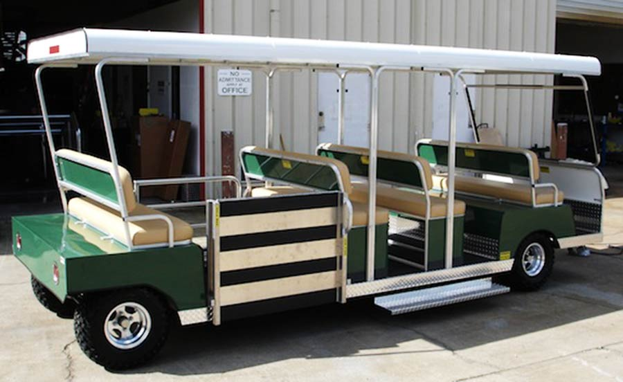 12 Passenger Green Trailer