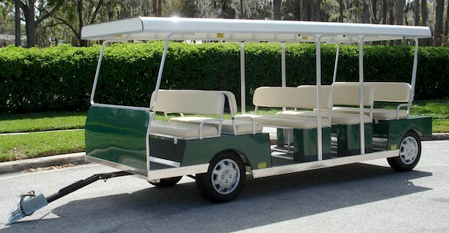15 Passenger Green Trailer