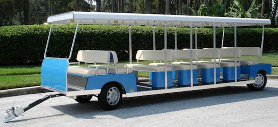 21 Passenger Blue Trailer