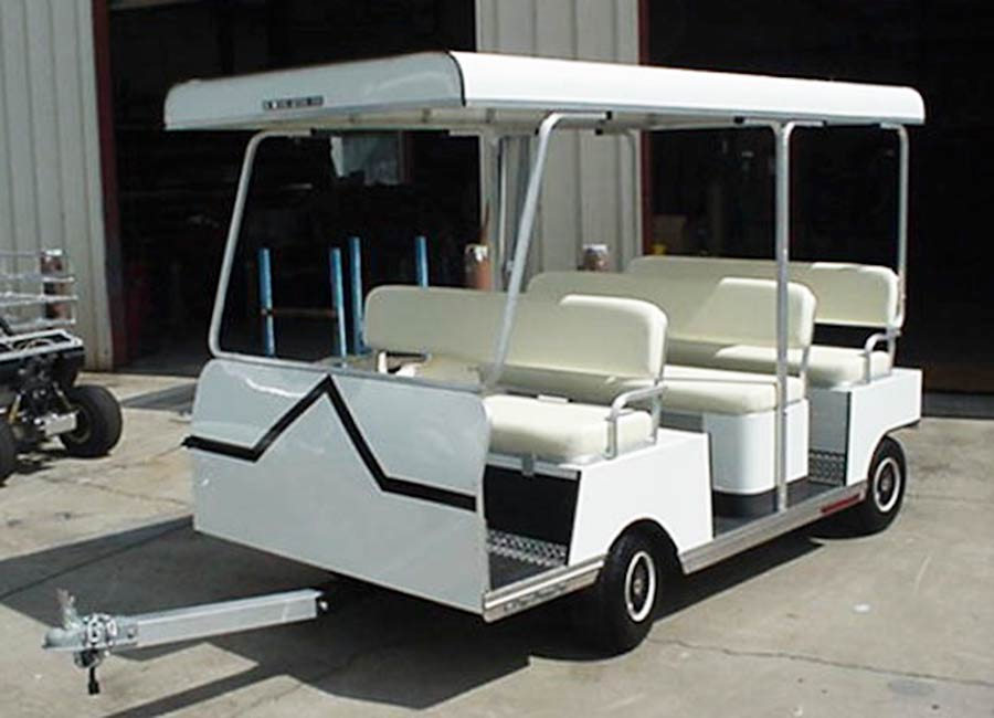 9 Passenger White Trailer